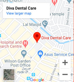 Driving Directions to Diva Dental, Wilson Garden Branch, Bangalore.